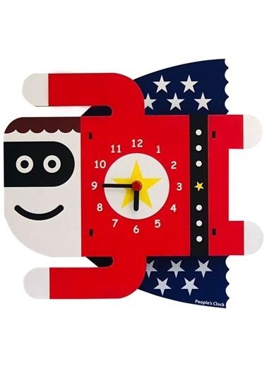 Peoples Clock Süperçocuk Özel Tasarım Duvar Saati Renkli